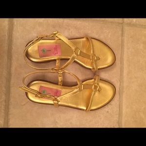 Gold Lilly Pulitzer Sandals
